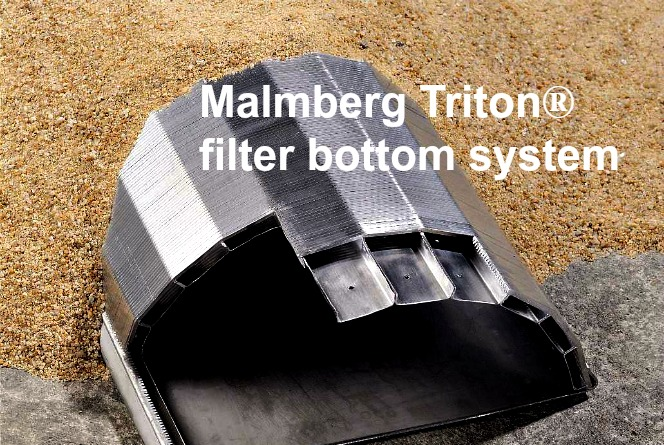 Malmberg Triton filter bottom system